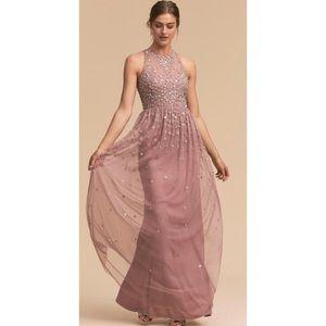 BHLDN Sequin Floral Embellished Ginny Gown NWOT